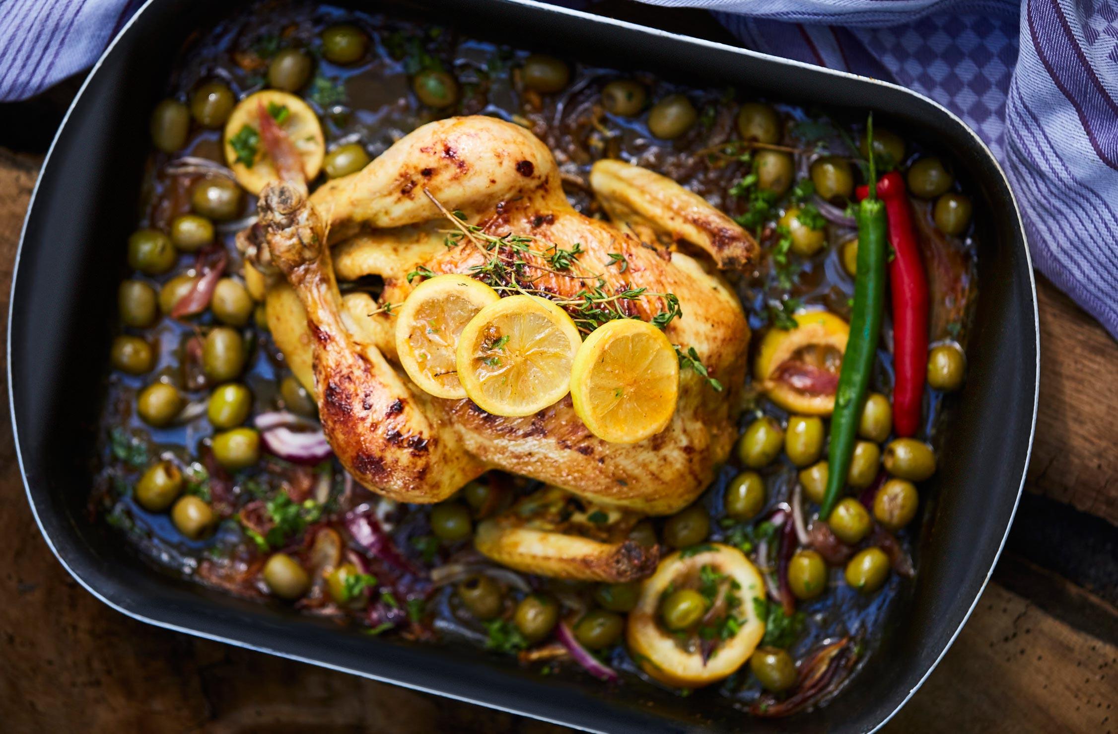 Hähnchen mit Gemüse & Zitrone